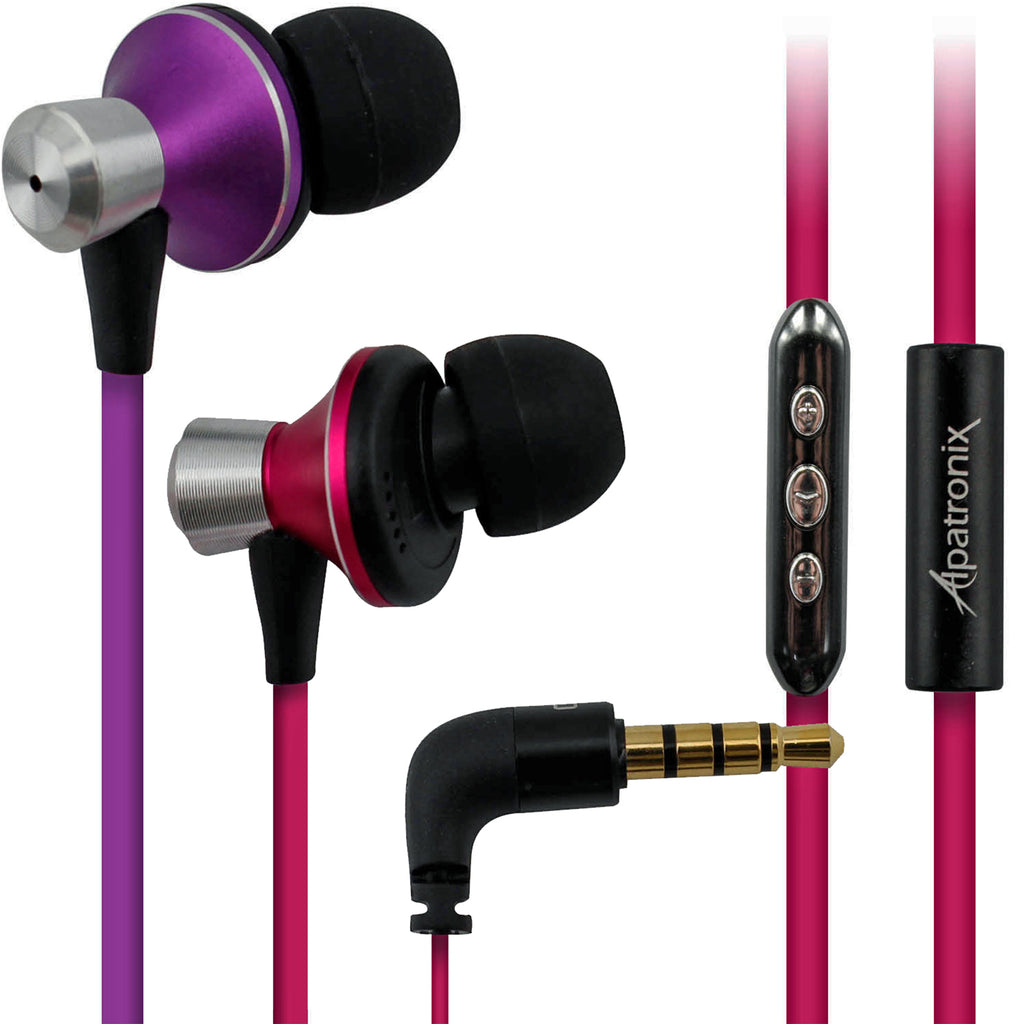 In-Ear Tangle-Free Earbuds with Playback & Volume Controls for Android Devices (EX100)