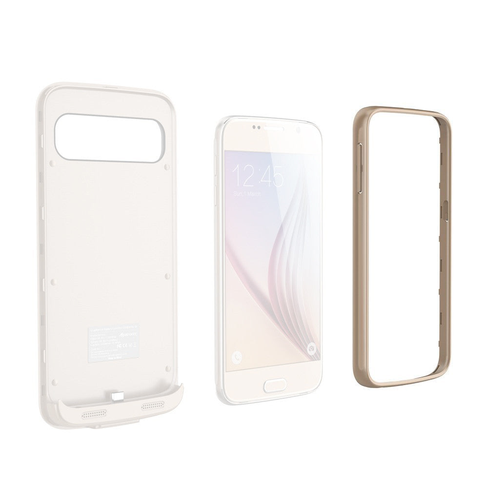 Extra Single Colored Bumper Frames for Samsung Galaxy S6 Battery Case (BX410)