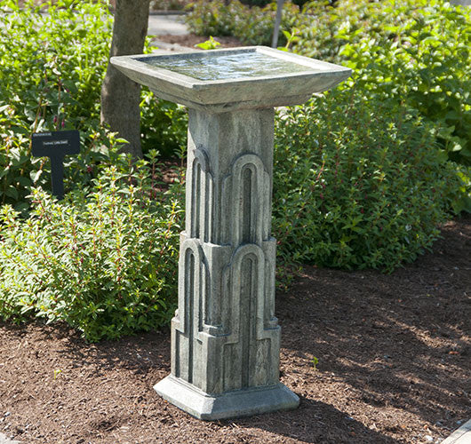 Art Deco Birdbath - Medium