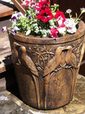 Birds of Paradise - Half Planter in Ancient Stone Finish