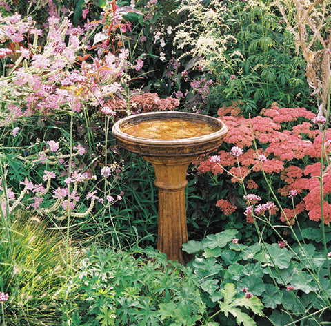 Classic Birdbath in Ancient Stone Finish