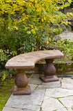 Dragonfly Bench - Curved in Ancient Stone Finish