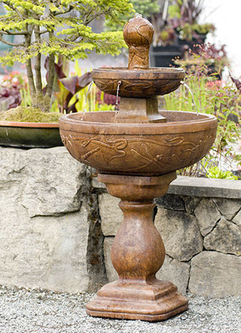 Dragonfly Fountain in Ancient Stone Finish