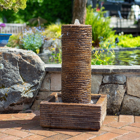 Drystack Patio Fountain Round