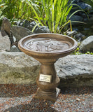 Dragonfly Legacy Birdbath in Ancient Stone
