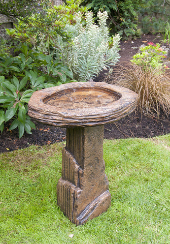 Fossil Birdbath in Ancient Stone finish