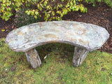 Fossil Bench - Curved in Western Slate