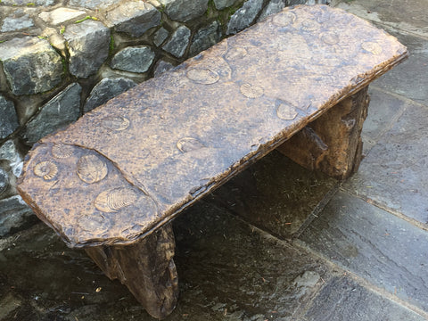 Fossil Bench - Straight in Ancient Stone