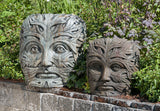 Greenman Face in Western Slate Finish (Left)