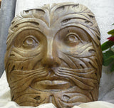 Greenman Face in Ancient Stone Finish