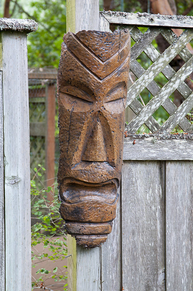 Hanging Polynesian Tiki Mask Cast Artifacts Uniquely