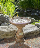 Hummingbird Legacy Birdbath in Ancient Stone