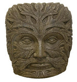 Medium Greenman Face in Ancient Stone Finish