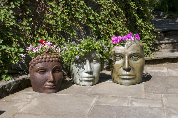 Medium Mother Nature - Planter Shown in Western Slate (middle)
