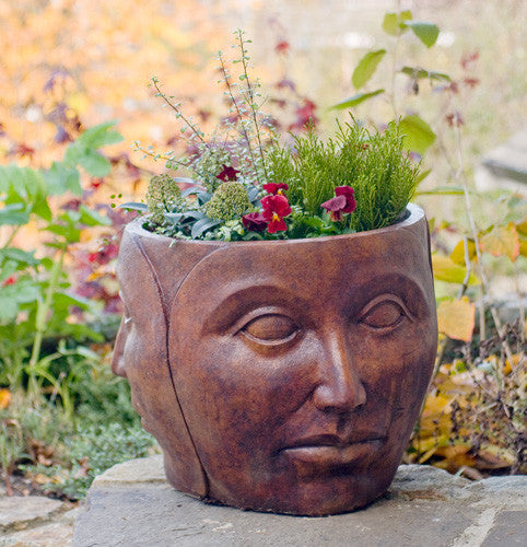 Mother Nature Pot in Ancient Stone