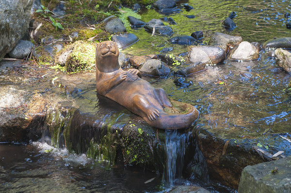 Otter Mother in Ancient Stone Finish
