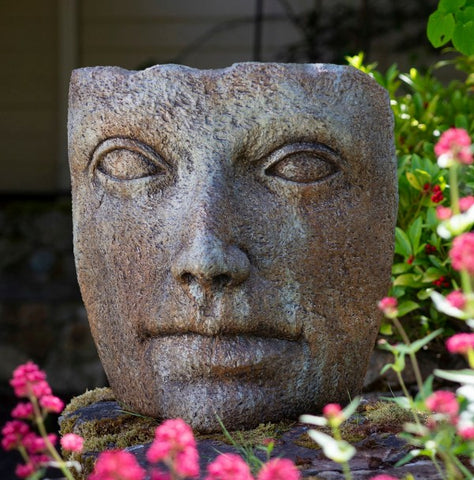 Chiseled Stone Portrait - Large