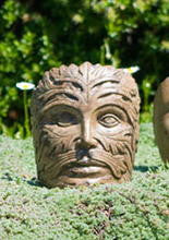 Small Greenman Face in Ancient Stone Finish