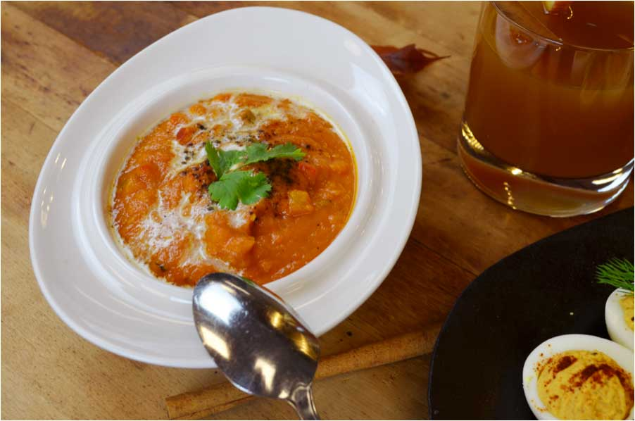 Pumpkin and Roasted Red Pepper Soup