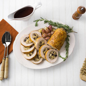 Turkey Roulade with Cranberries and Apples