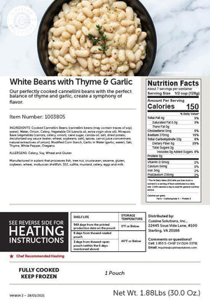 White Beans with Thyme and Garlic