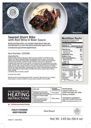 Short Ribs with Red Wine and Beer Sauce