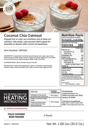 Easy Gluten-Free Coconut Chia Oatmeal with Red Quinoa