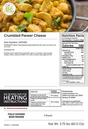 Crumbled Paneer Cheese