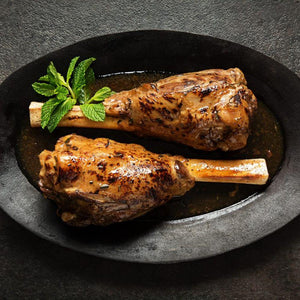 Lamb Shanks in Rosemary and Mint Sauce
