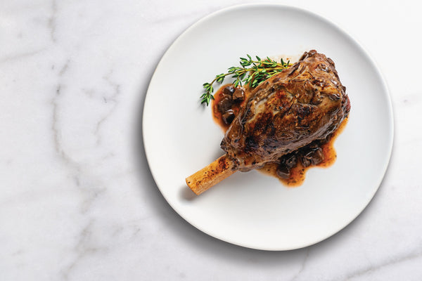 Lamb Shank with Portobello and Red Wine Sauce Case