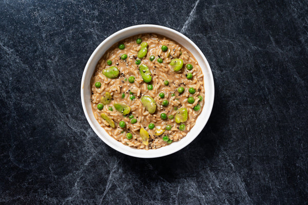 Mushroom Risotto with Fava Beans