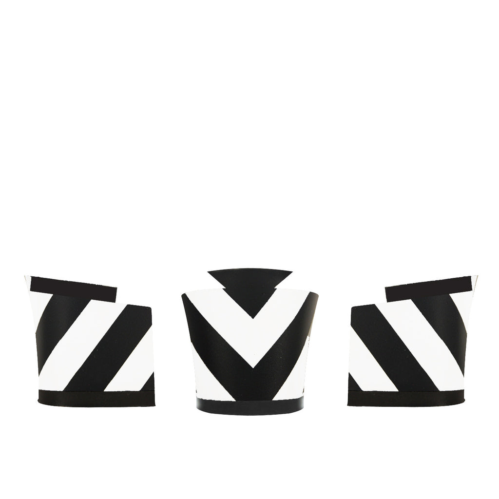 Christophe Black and White Chevron
