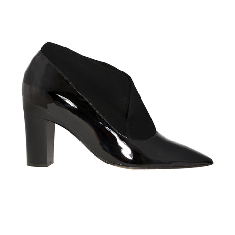 Hermia Black Patent and Black Velour