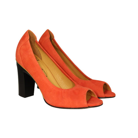 Severine Orange Suede