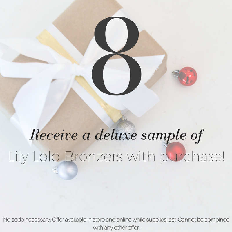 giveaway day 8: receive a deluxe sample of lily lolo bronzers with purchase!