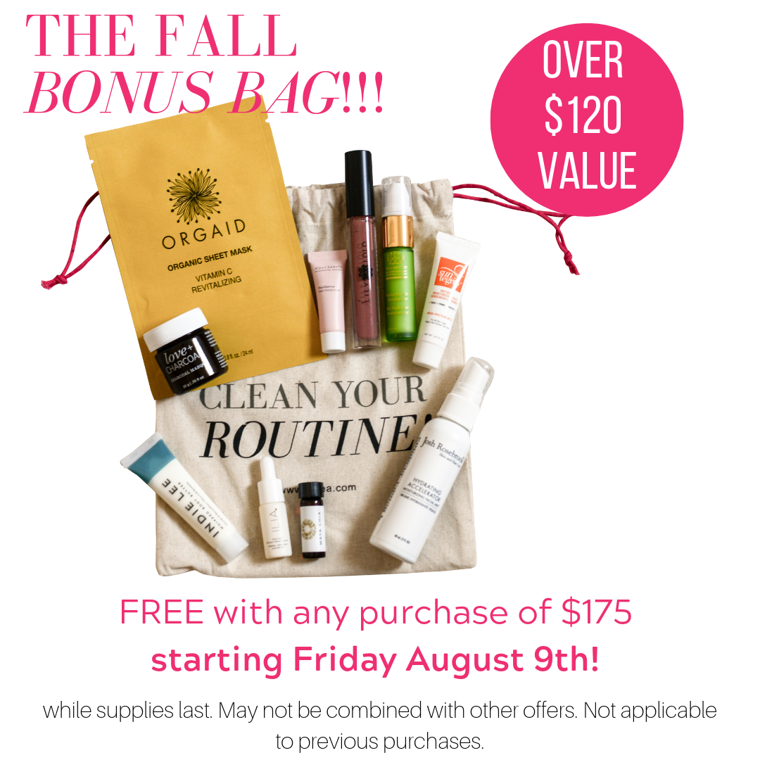 the fall bonus bag! free with any purchase of $175 starting friday august 9th