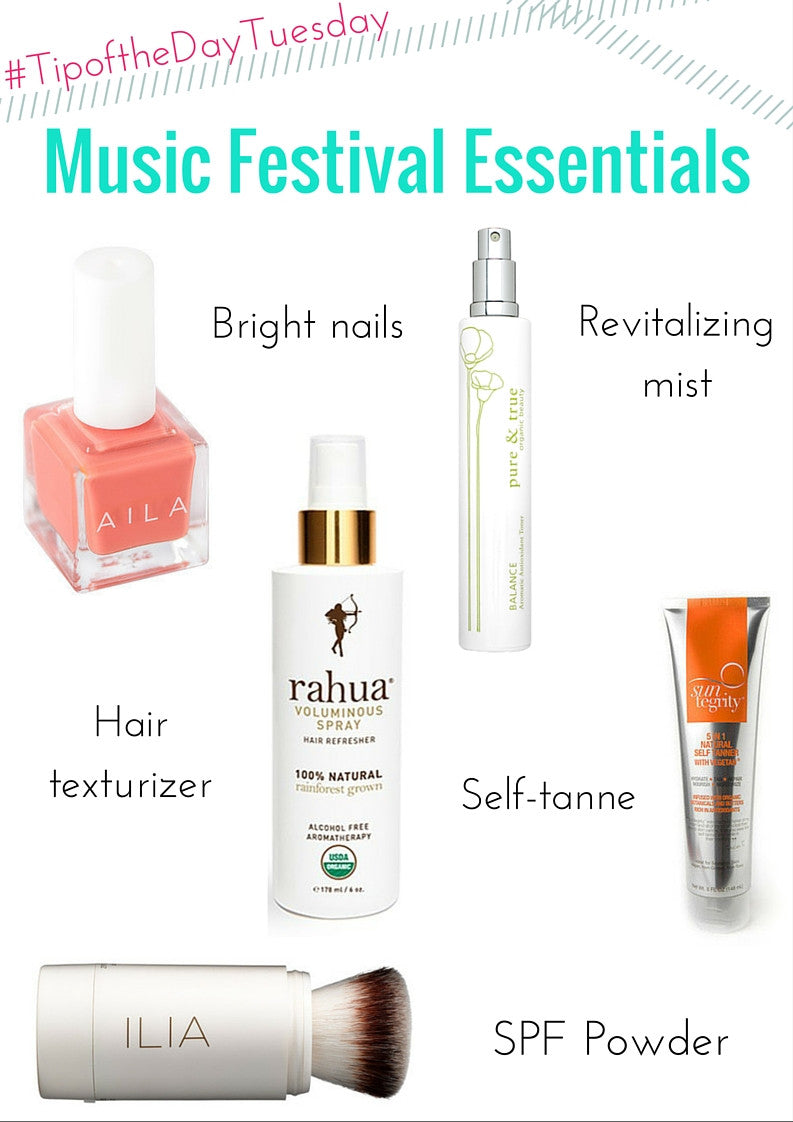 #TipoftheDayTuesday - Music Festival Essentials
