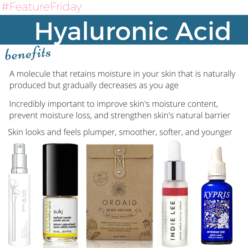 #featurefriday hyaluronic acid benefits