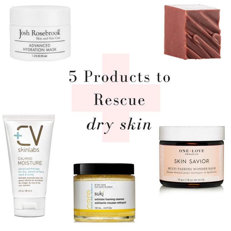 5 products to rescue dry skin