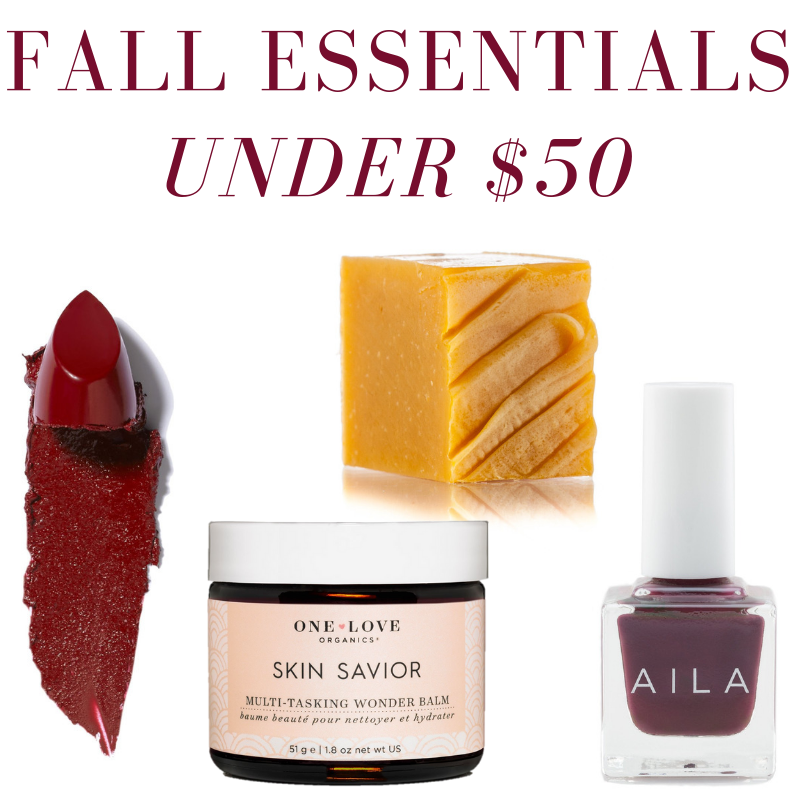 Fall Beauty Essentials under $50