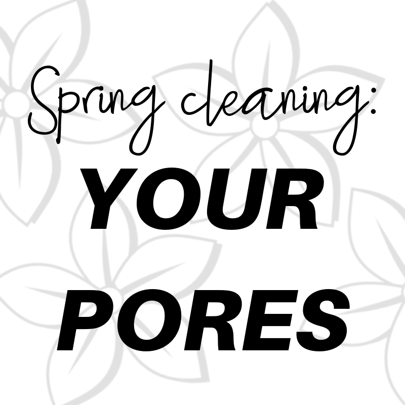 spring cleaning: your pores