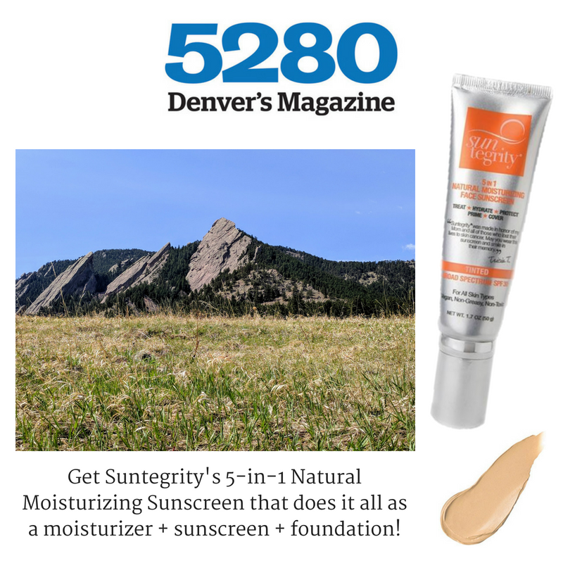 get suntegrity's 5-in-1 natural moisturizing sunscreen that does it all as a moisturizer, sunscreen, and foundation. article from 5280 Denver's Magazine