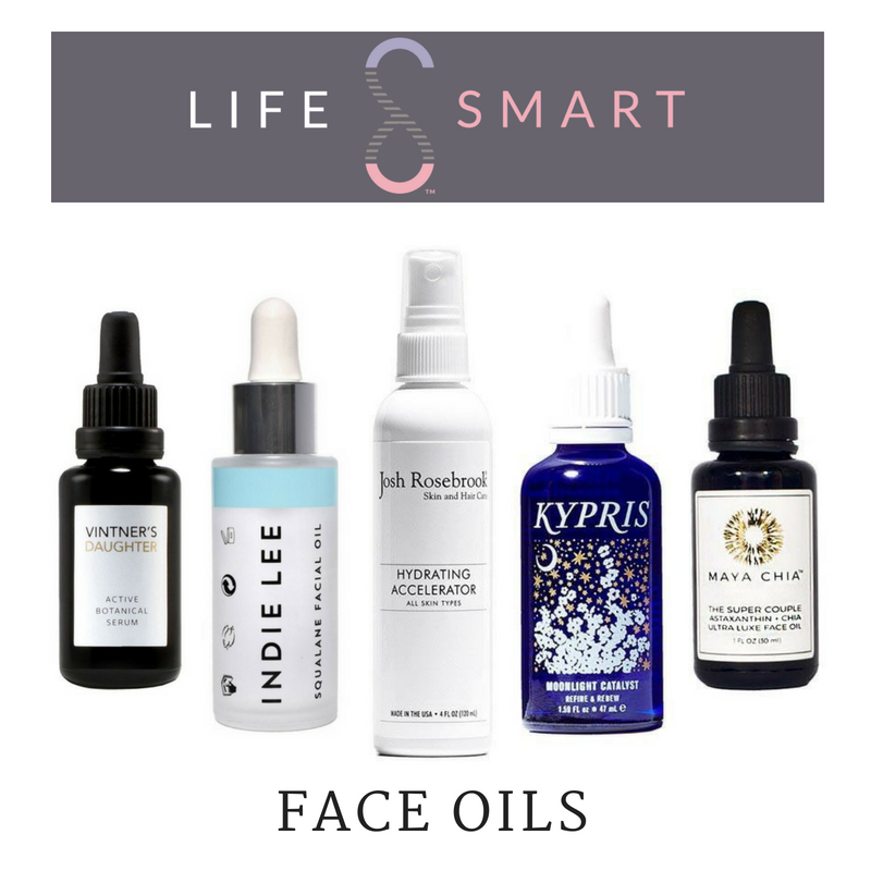 face oils. featuring vintner's daughter, indie lee, josh rosebrook, kypris, and maya chia. article from life smart