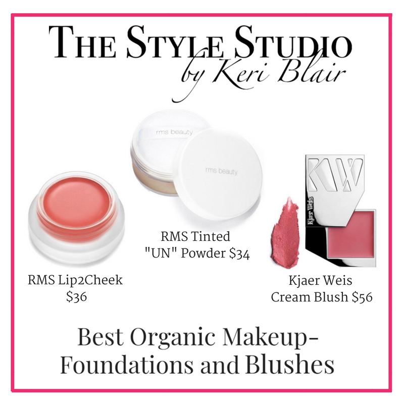 best organic makeup foundations and blushes. article from the style studio by keri blair