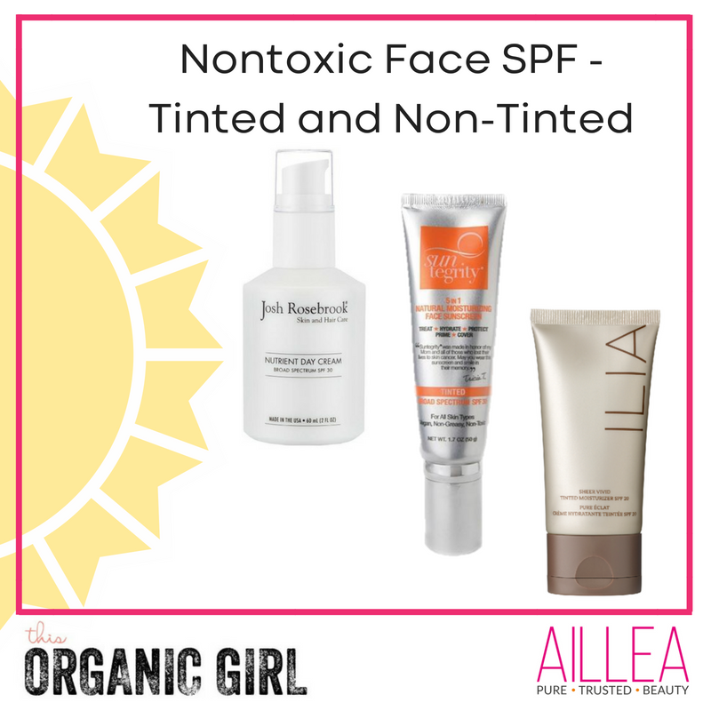 nontoxic face spf tinted and non tinted. article by this organic girl