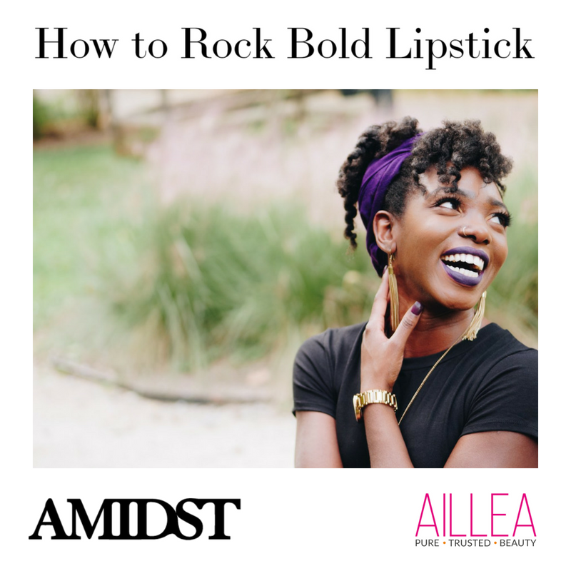 how to rock bold lipstick. article from amidst