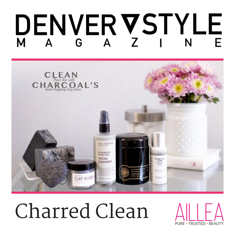charred clean. clean your skin with charcoal's toxin trapping tiny pores. article from denver style magazine