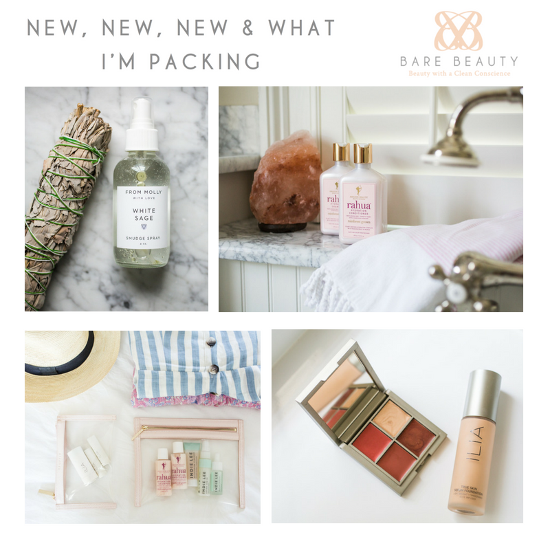 new, new, new and what I'm packing. article by bare beauty