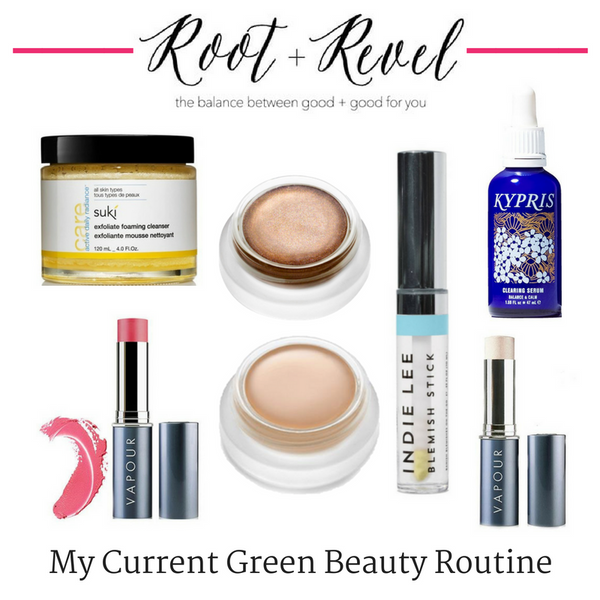 My Current Green Beauty Routine