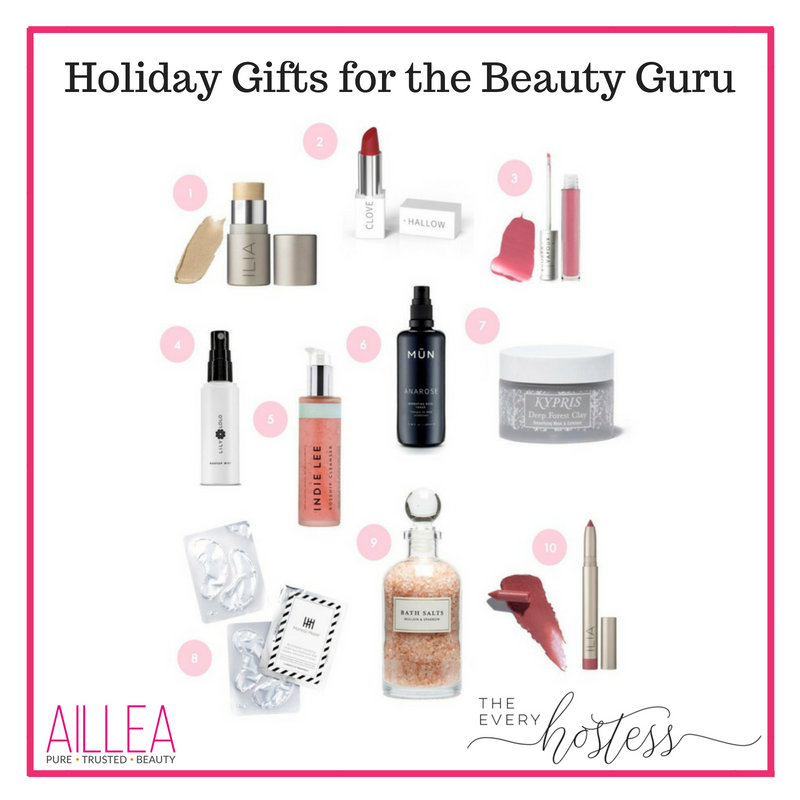holiday gifts for the beauty guru. article by the every hostess